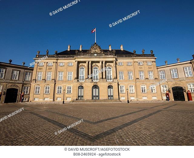 The Amelienborg Palace,Copenhagen,Denmark