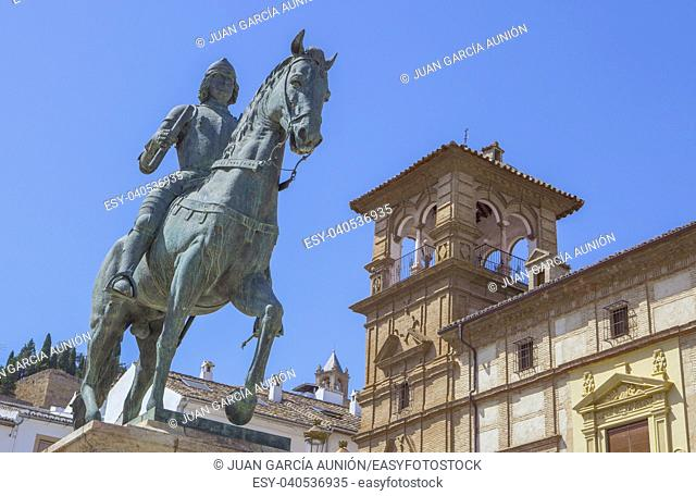 Equestrian Statue of Ferdinand I, King of Aragon, Antequera, Andalusia, Spain