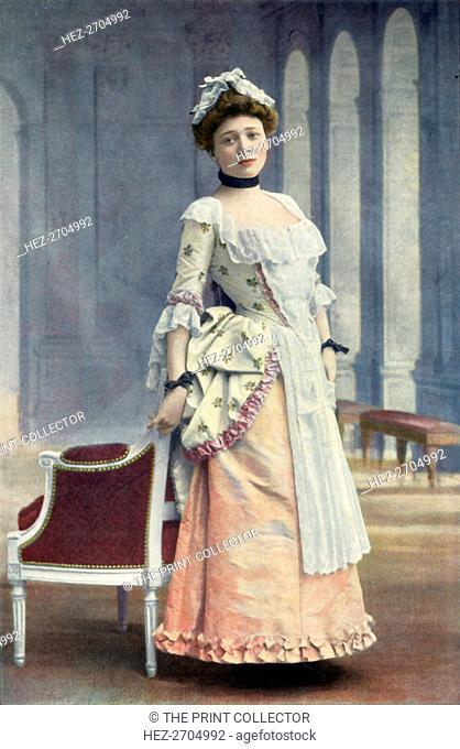 'Comedie-Francaise. Mlle. Marie Leconte. Role de Lisette. - Le Jeu De L'Amour Et Du Hasard', 1904. Creator: Unknown