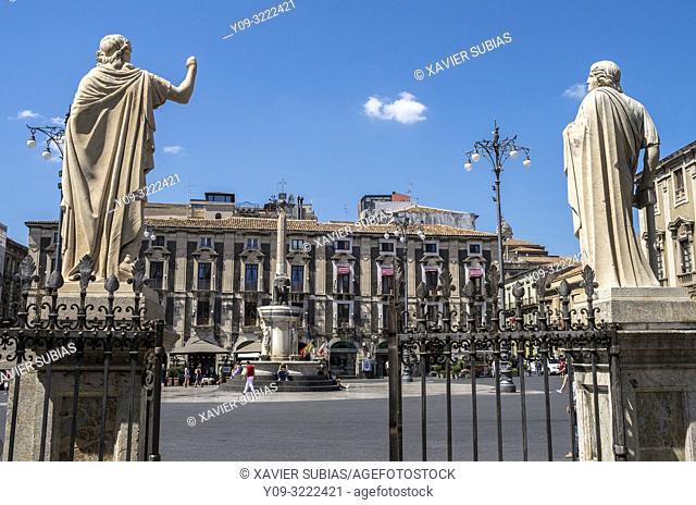 Duomo square, Catania, Sicily, Italy