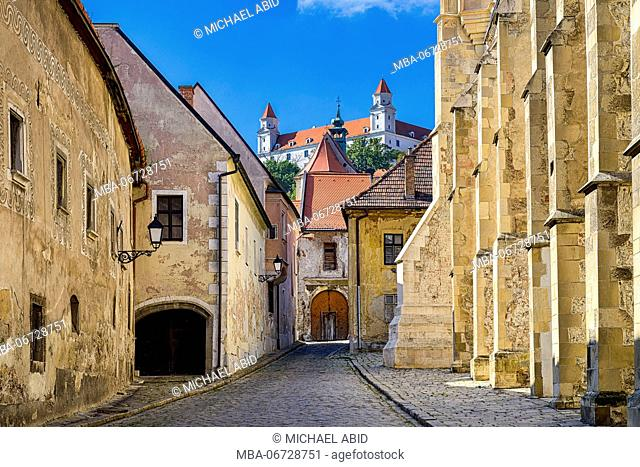 Old town and castle of Bratislava, Slovakia