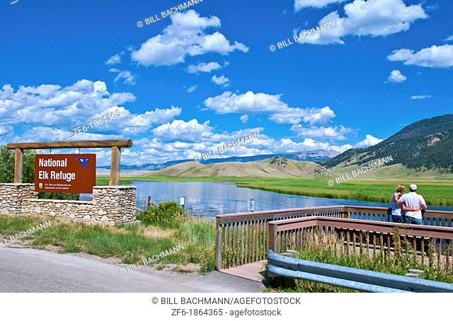 Jackson Hole Wyoming with National Elk Refuse with great views in Jackson