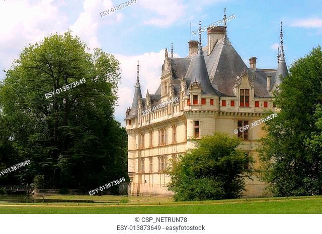 Castle Azay-le-Rideau, France