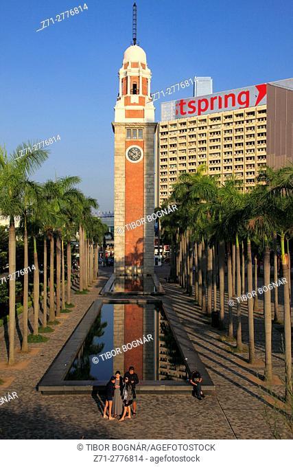 China, Hong Kong, Clock Tower, Tsim Sha Tsui, Kowloon,