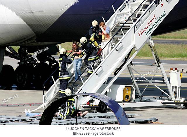 DEU, Germany, Duesseldorf: Emergency exercise at the Duesseldorf International airport