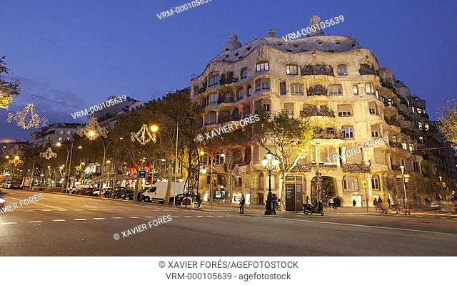 La Pedrera - Casa Milà - in Barcelona city, Spain
