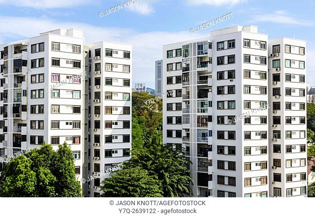 High-rise living at Orchard Court apartments, Oxley Rd, Singapore
