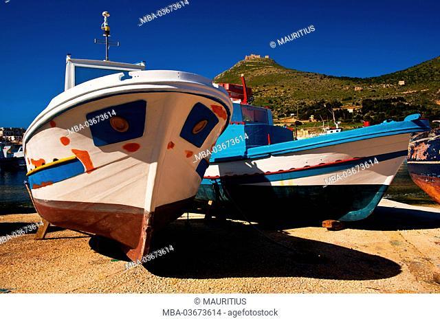 Harbour of the island Favignana, Aegadian Islands, Italy