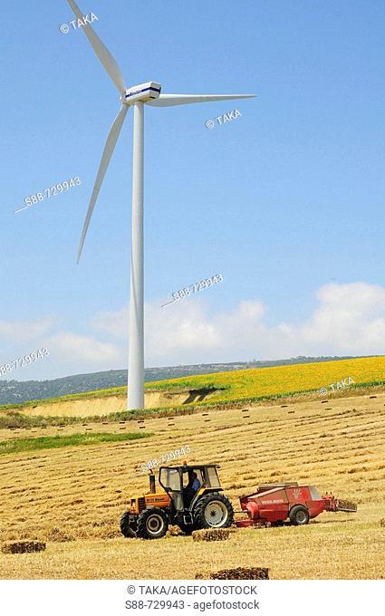 Wind turbine, Zahara de los Atunes, Andalusia, Spain
