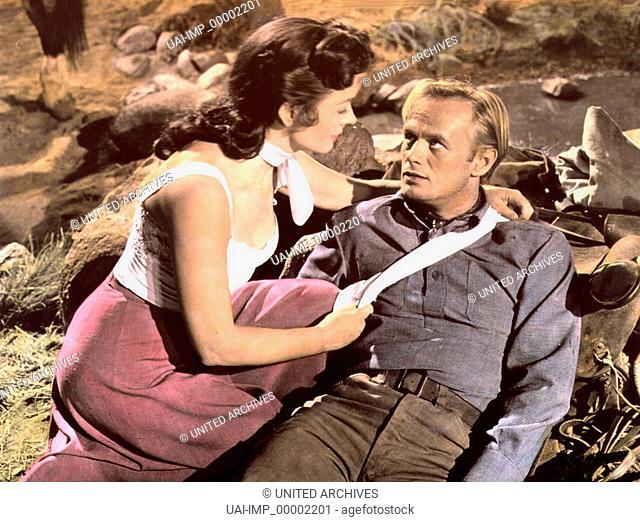 Das Geheimnis der fünf Gräber, (BACKLASH) USA 1956, Regie: John Sturges, DONNA REED, RICHARD WIDMARK, Key: Verwundeter