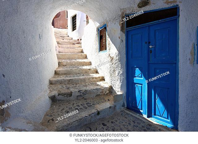 oia Ia Santorini Town- Greek Cyclades islands