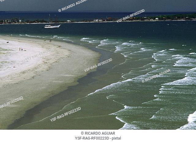 Beach, Mel Island, Paraná, Brazil