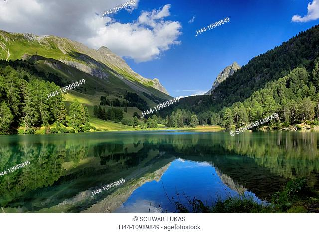 Palpuognasee lake in Grisons, Switzerland
