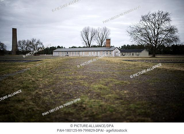 Trees and barracks surround the terrain of the Memorial Sachsenhausen in Oranienburg, Germany, 25 January 2018. Between 1936 and 1945 more than 200000 people...