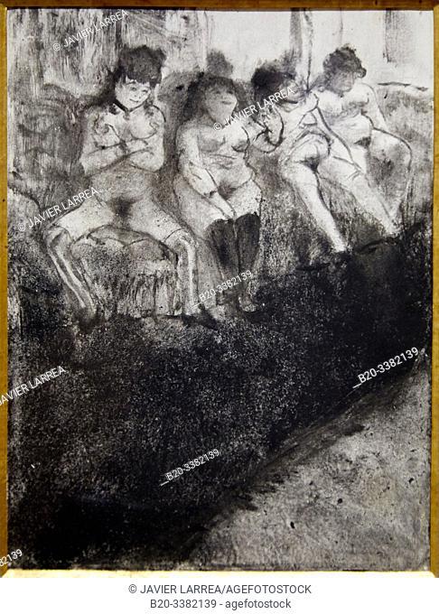 """L'Attente (seconde version)"", 1879, Edgar Degas, Picasso Museum, Paris, France, Europe"