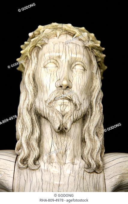 Christ sculpture in Notre-Dame de Paris cathedral Treasure Museum, Paris, France, Europe