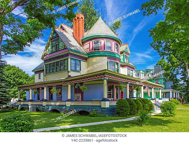 Christmas House shop in a Queen Anne Victorian house in Elmira New York