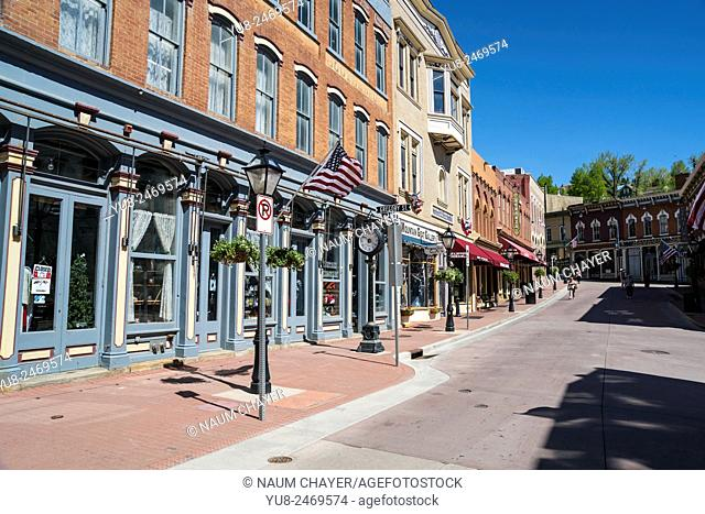Old street, Central City, Colorado, USA, North America, United States