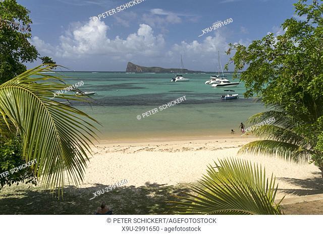 Bain Boeuf Public Beach and Coin de Mire island, Cap Malheureux, Riviere du Rempart