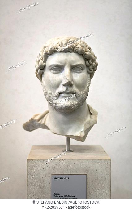 Portrait of Hadrian, national museum of Rome (museo nazionale romano), Rome, Italy