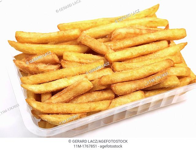 French Fries against White Background