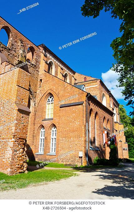Tartu toomkirik, Ruins of the old cathedral church, Toomemägi, hill park, Tartu, Estonia, Baltic States