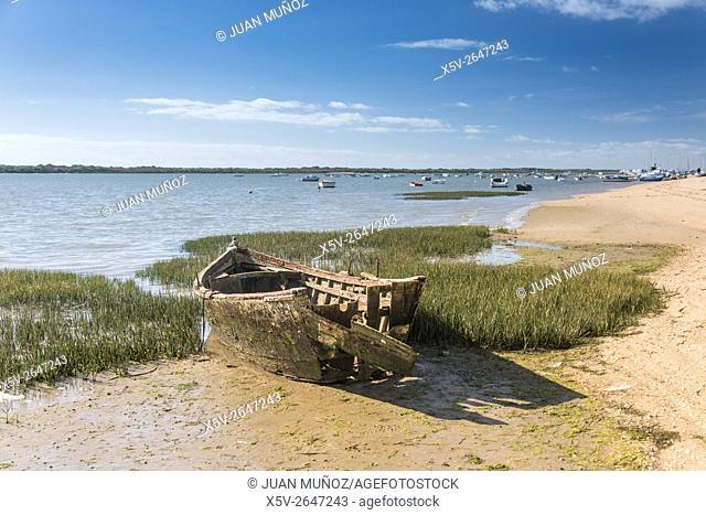 Playa de El Rompido. Other boat. Costa de la Luz. Huelva