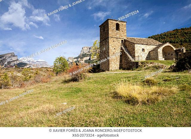 Church of Vio village, Huesca, Spain