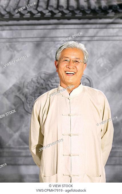oriental senior adult view front