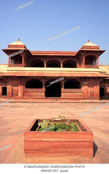 Jodh Bais palace in Fatehpur Sikri built during second half of 16th century , Agra , Uttar Pradesh , India UNESCO World Heritage Site