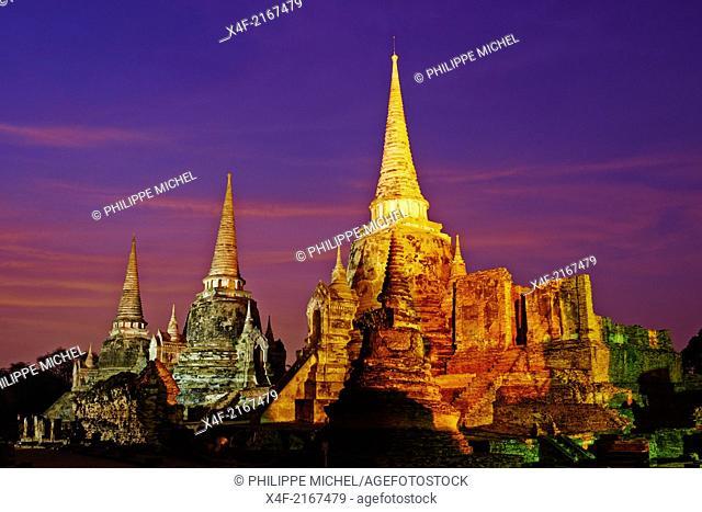 Thailand, Ayutthaya, Ayutthaya Historical Park, Wat Phra Si Sanphet