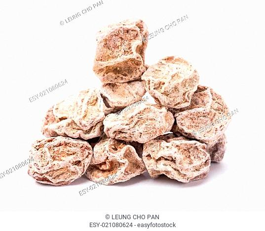 Dried chinese plum isolated on white