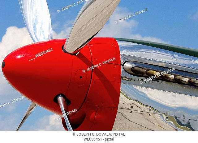 Mustang spinner and propeller. Windsor, Canada