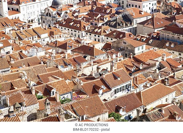 Aerial view of Dubrovnik cityscape, Croatia, Croatia
