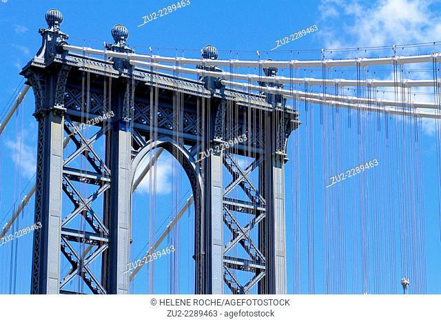Manhattan bridge tower, Nex York City, USA