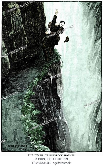 The death of Sherlock Holmes, 1893. Artist: Sidney E Paget
