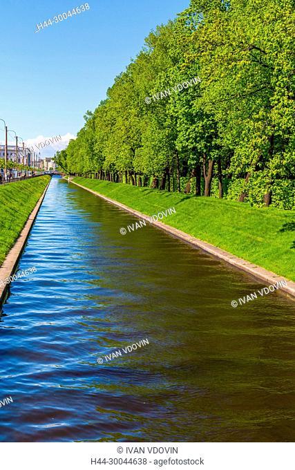 Swan Canal, Summer Garden, Saint Petersburg, Russia
