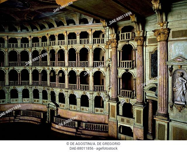 Wooden model of the municipal theatre of bologna designed by antonio galli da bibiena 1697 1774 italy 18th century
