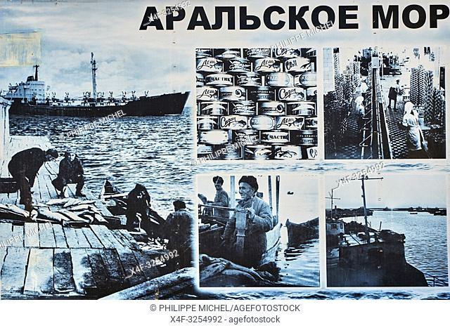 Ouzbekistan, region de Karakalpakstan, mer d'Aral, Moynaq, Memorial de la mer d'Aral / Uzbekistan, Karakalpakstan province, Aral sea, Moynaq, Aral sea memorial