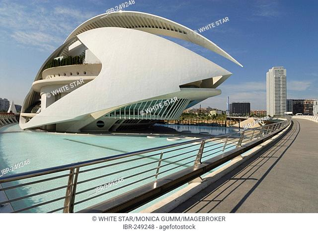 Palau de les Arts Reina Sofia, opera house, Ciudad de las Artes y de las Ciencias (City of Arts and Sciences), Valencia, Valencia, Spain