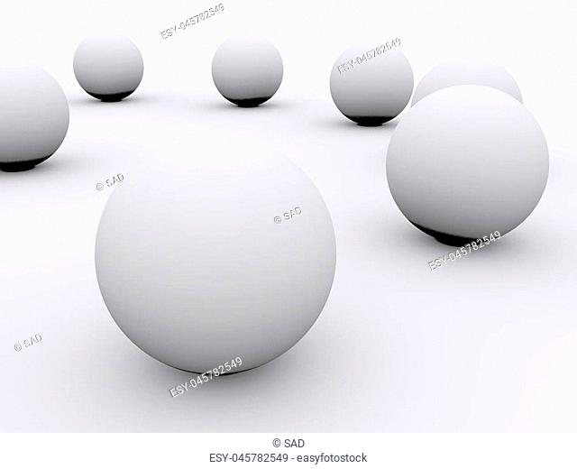 balls abstract background. 3d