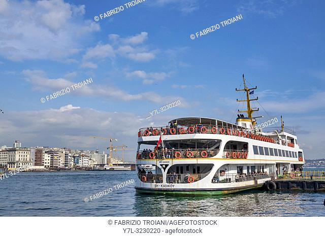 Sightseeing Boat in the Golden Horn, Istanbul, Turkey