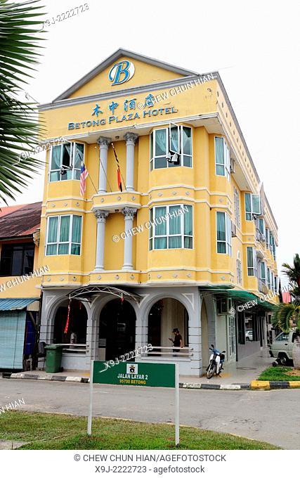 Hotel block in Betong, sri aman division, sarawak, malaysia, borneo