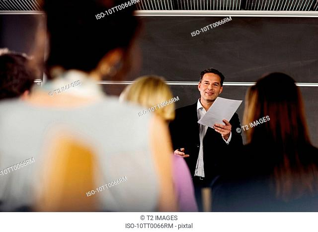 Man doing his business presentation