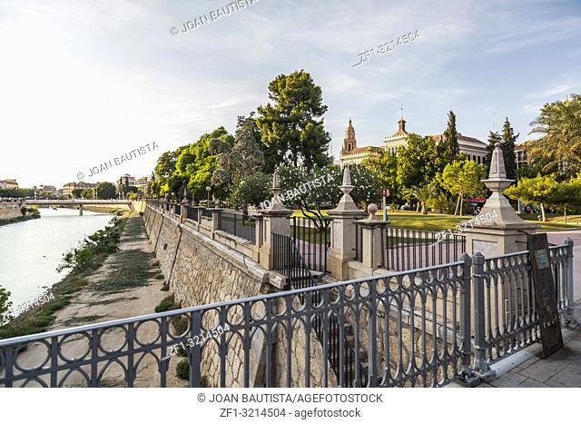 General city view, river Segura and historic buildings,Murcia,Spain