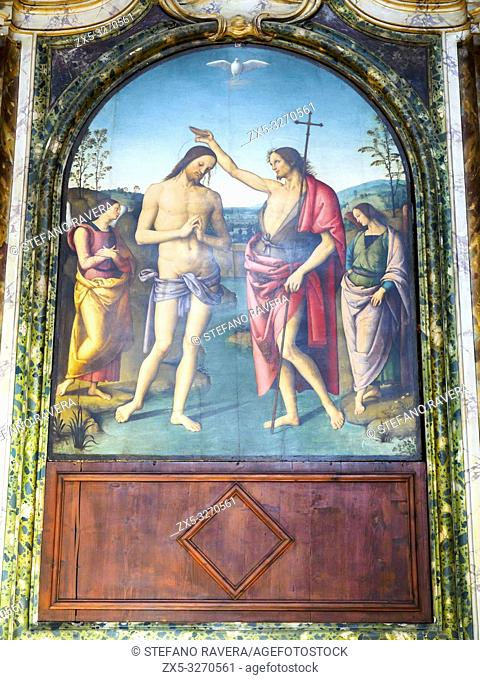 Il Battesimo di Cristo (the baptism of christ) by Pietro Vannucci known as 'il Perugino' (1450 - 1523) - St Gervasius and St Protasius Church