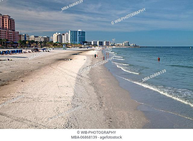 The USA, Florida, Clearwater Beach, beach panorama