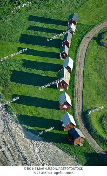 Fishing huts, Öland. Sweden