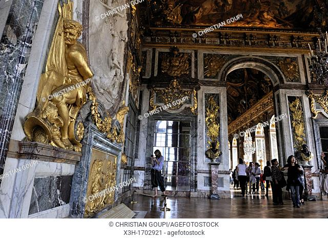 War Room adjoining the Hall of Mirrors of the Palace of Versailles, Yvelines departement, France, Europe