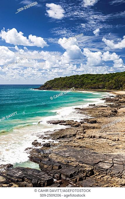 Tea Tree Bay and the Tasman Sea in Noosa National Park, Noosa Heads, Queensland, Australia